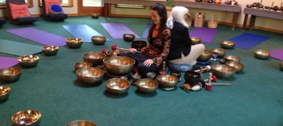 Karen with bowls 2